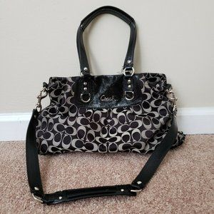 COACH ASHLEY SIGNATURE C Satchel Purse F15510